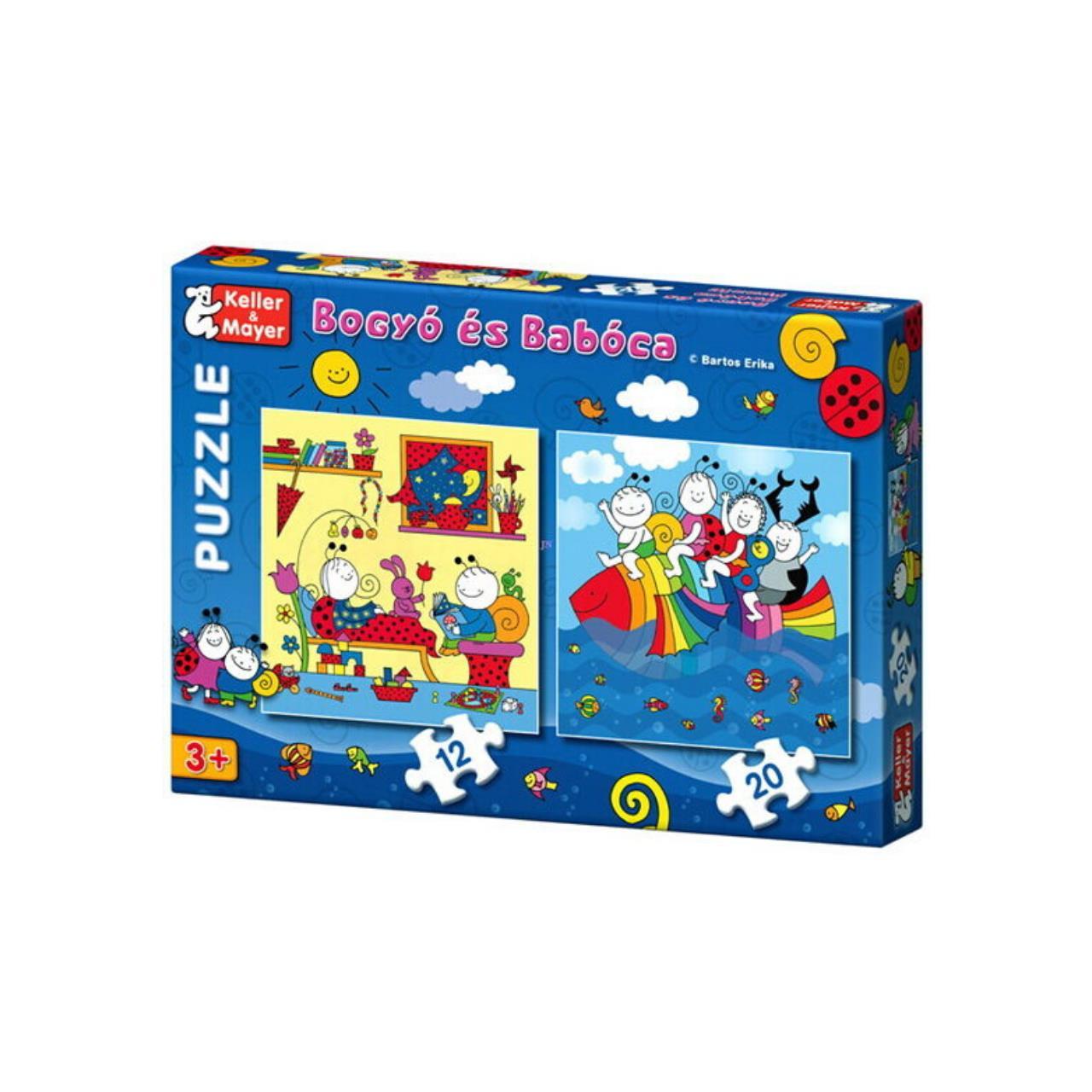 Puzzle Bobiţă şi Buburuză cu 12 şi 20 piese - Peştele curcubeu imagine edituracasa.ro