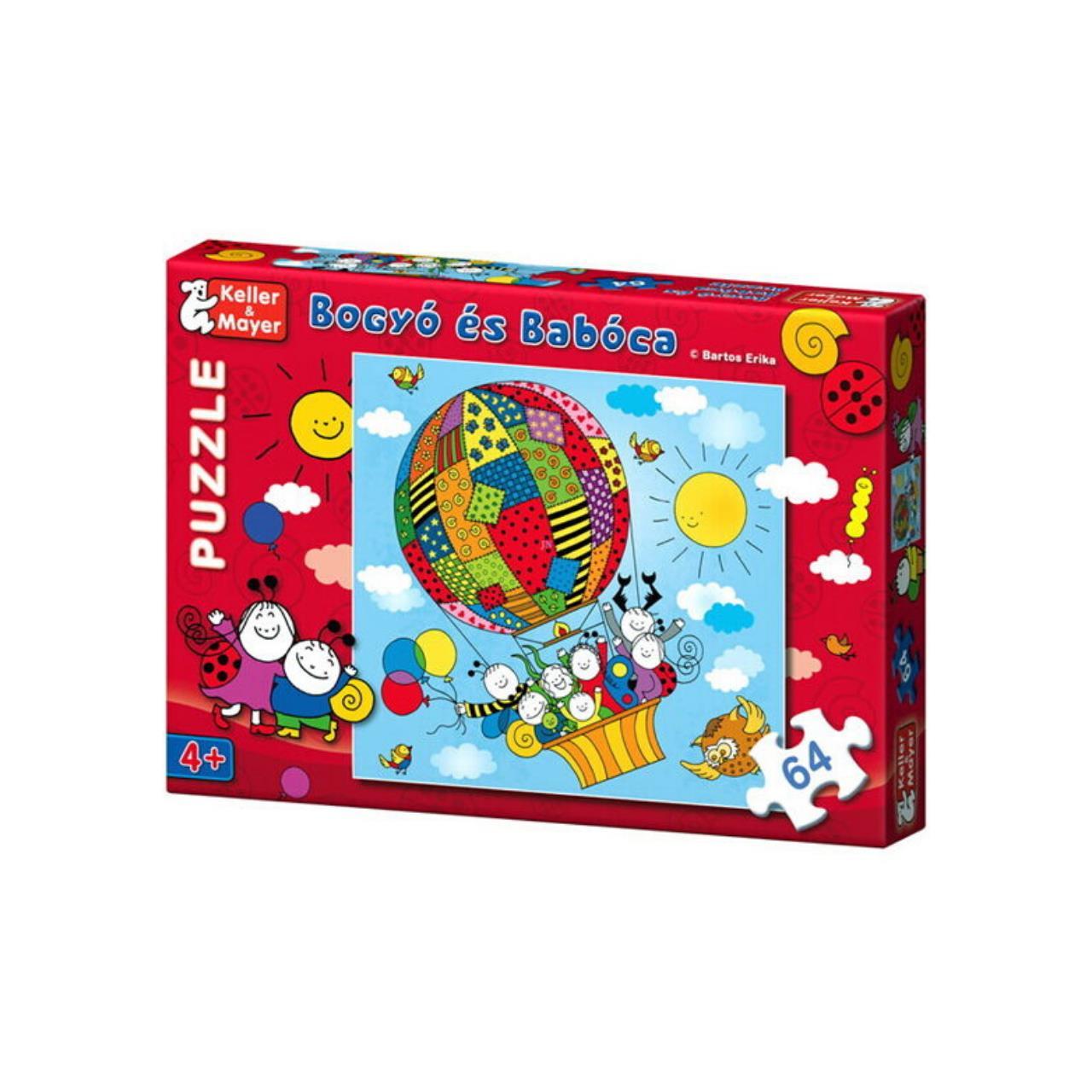 Puzzle Bobiţă şi Buburuză cu 64 de piese - Balonul imagine edituracasa.ro